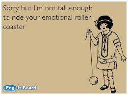 Are you on this emotional rollercoaster too?